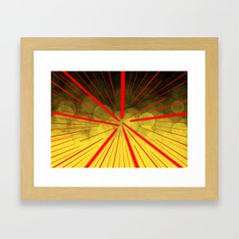 Yellow Complex Abstract Framed Art Print