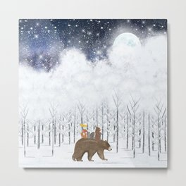 the white forest Metal Print