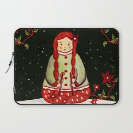 Winter Magic Girl Laptop Sleeve