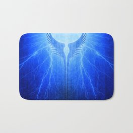 Vikings Valkyrie Wings of Protection Storm Bath Mat