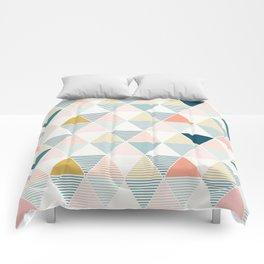 Modern Geometric Comforters