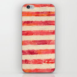 Grungy red stripes iPhone Skin