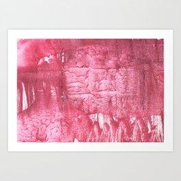 Cinnamon Satin abstract watercolor Art Print