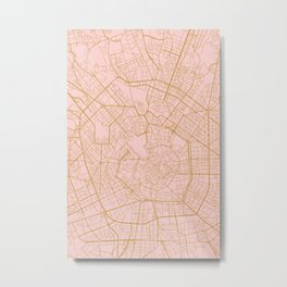 Milano map Metal Print