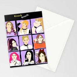 Knock Knock! Purple Version Stationery Cards