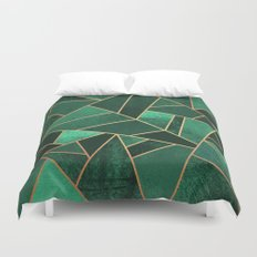 Emerald and Copper Duvet Cover