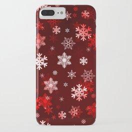 Dark Red Snowflakes iPhone Case