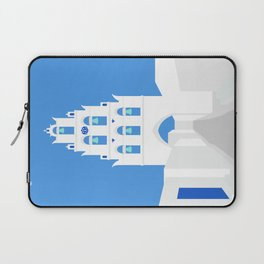 Bell Tower, Megalochori Village, Santorini, Greece Laptop Sleeve
