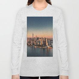 manahttan with fireworks Long Sleeve T-shirt