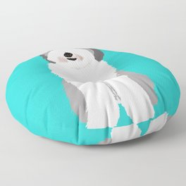 Lucy The Sheepadoodle Floor Pillow