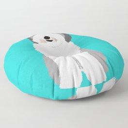 Lucy The Sheepadoodle Floor Pillow