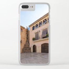 Spanish Town Clear iPhone Case