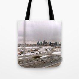 Denvers First Snow Tote Bag