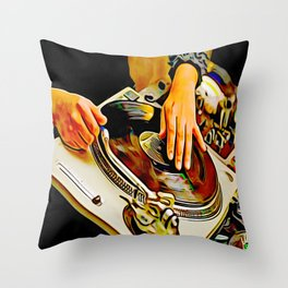 TURNTABLISM: MOVE THE CROWD! Throw Pillow