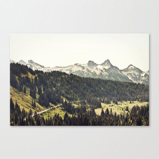 Epic Drive through the Mountains Canvas Print