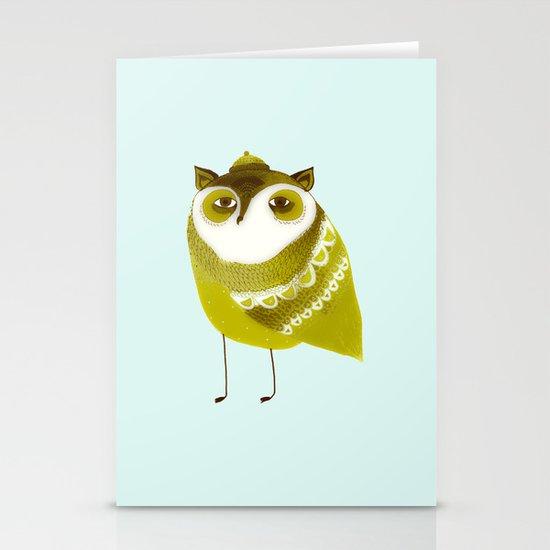 Golden Owl illustration  Stationery Cards