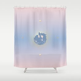 AngelSky Shower Curtain