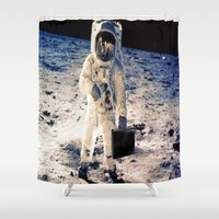 lawyer Shower Curtains featuring Astronaut lawyer  by Life.png