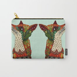 fox love mint Carry-All Pouch