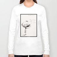toilet Long Sleeve T-shirts featuring Toilet Girl by artlandofme