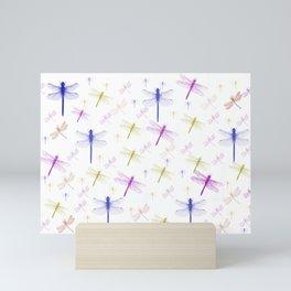 Dragonfly Pattern Mini Art Print