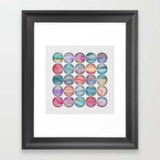 Marble Bubbles Framed Art Print