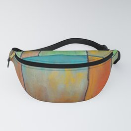 Abstract colorful background with geometric shapes and pastel texture. Fanny Pack