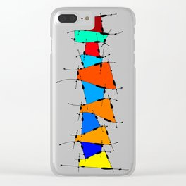 Sanomessia - melting cubes Clear iPhone Case