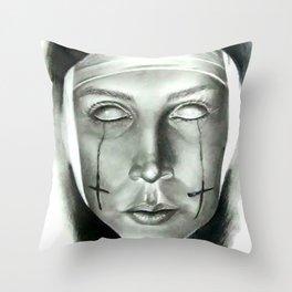 Evil Nun Throw Pillow