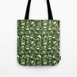 Skull Pattern | Bones Heavy Metal Cemetery Tote Bag
