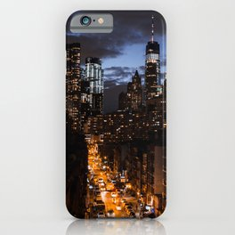 NYC at night iPhone Case