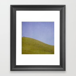 Cow on the Hill Framed Art Print