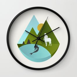 The Mermaid and the Centaur Wall Clock