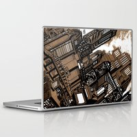 cityscape Laptop & iPad Skins featuring Cityscape by David Miley