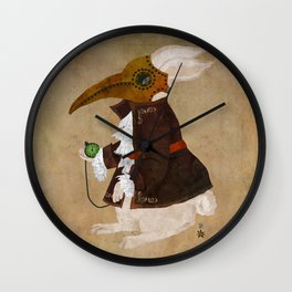 'Postapocalyptic' style White Rabbit (Alice in Wonderland) Wall Clock