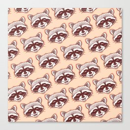 Happy raccoon Canvas Print