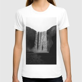 The Waterfall (Black and White) T-shirt