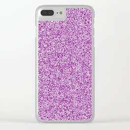 Spacey Melange - White and Purple Violet Clear iPhone Case
