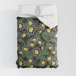 Floral pattern in dark colors. Primula Comforters