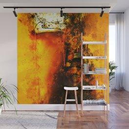 refreshing yeast wheat beer splatter watercolor Wall Mural