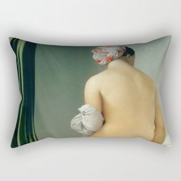 "Jean-Auguste-Dominique Ingres ""The Valpinçon Bather"" Rectangular Pillow"