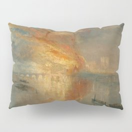 The Burning of the Houses of Lords and Commons, 16 October 1834- Joseph Mallord WIlliam Turner Pillow Sham