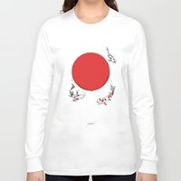 sun Long Sleeve T-shirts featuring Koi and Sun by Huebucket