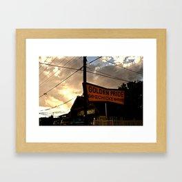 Chicken & Ribs Framed Art Print