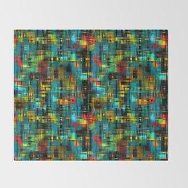 Art splash brush strokes paint abstract seamless pattern print background Throw Blanket