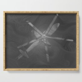 Texture Gray (Grey) Helicopter Modern Print Serving Tray