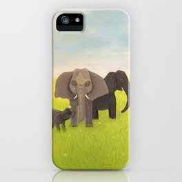 Elephant Picnic iPhone Case