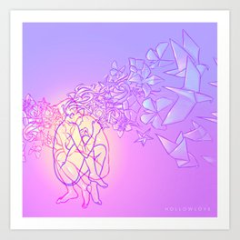 Hollowlove Origami Heart Art Print