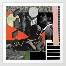 Negrobuias - Jazz, the obetagi fititi affair; astral quintet Art Print