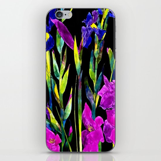 black iris iPhone & iPod Skin